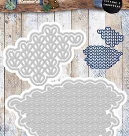 Studiolight Embossing Die 106 x 110 mm, Denim Saturdays nr.135