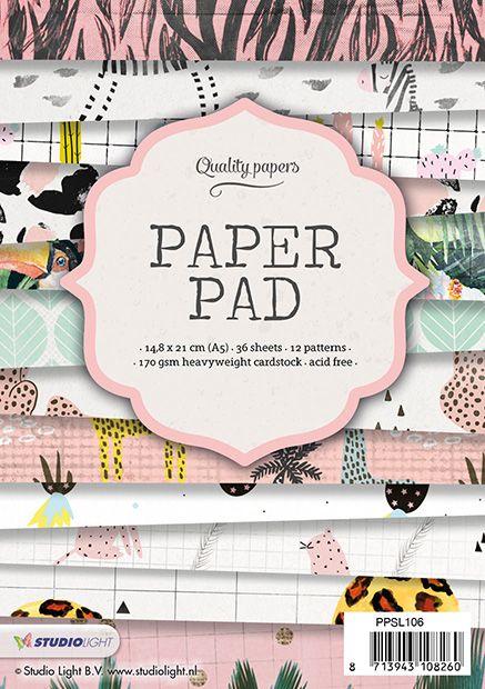 Studiolight Paper Pad A5, 36 vel, 12 patronen nr.106