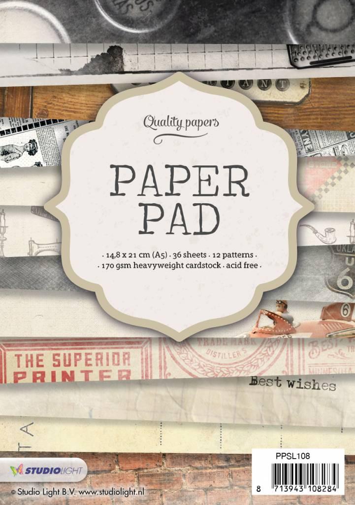 Studiolight Paper Pad A5, 36 vel, 12 patronen nr.108