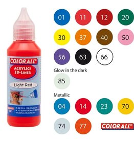 Collall Colorall Acrylic 3Dliner 50 ml Zilver