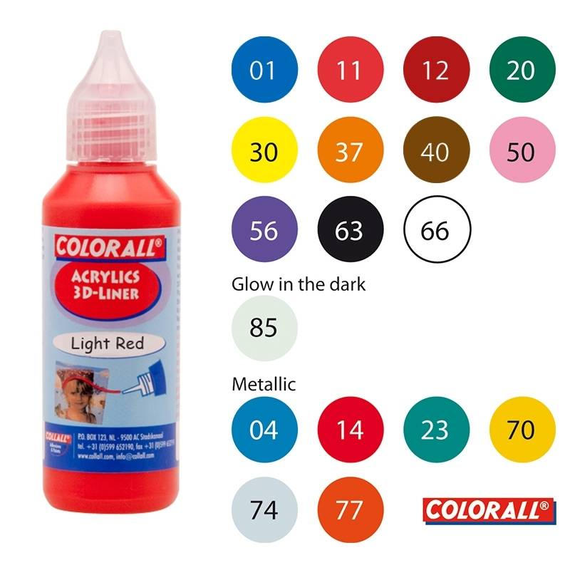 Collall Colorall Acrylic 3Dliner 50 ml Goud