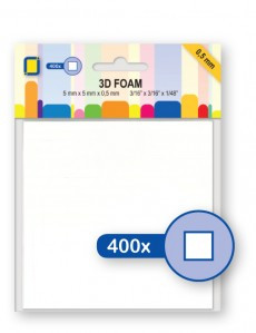 Je Je Produkt 3D Foam blocks 5mm x 5mm x 0.5mm