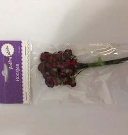 Hobby Idee Paper roses Dark red 10mm