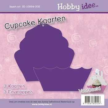 Hobby Idee Cupcake Kaart Paars