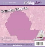 Hobby Idee Cupcake Kaart Lila