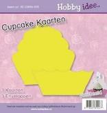 Hobby Idee Cupcake Kaart Geel