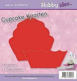 Hobby Idee Cupcake Kaart Rood