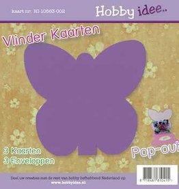 Hobby Idee Vlinder Kaart Paars