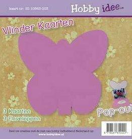 Hobby Idee Vlinder Kaart Lila