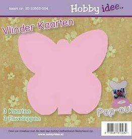 Hobby Idee Vlinder Kaart Roze