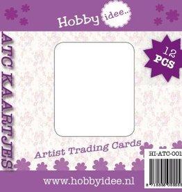 Hobby Idee ATC kaartjes 12 stuks ronde hoeken