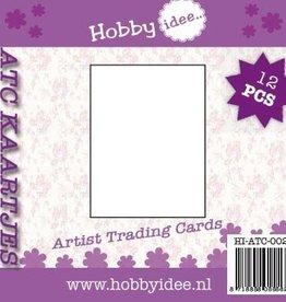 Hobby Idee ATC kaartjes 12 stuks rechte hoeken