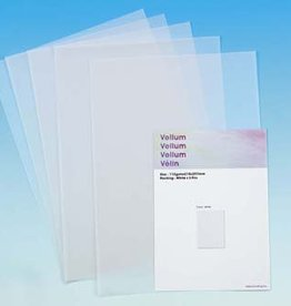 Hobby Crafting & Fun Vellum A4, White, 5pcs/bag