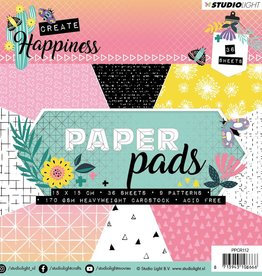 Studiolight Paper Pad 15 x 15 cm, Create Happiness nr.112