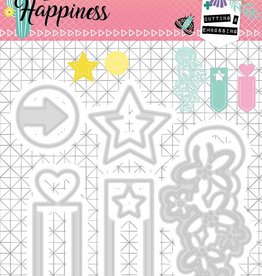 Studiolight Embossing Die 104 x 95 mm, Create Happiness nr.155