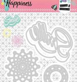 Studiolight Embossing Die 104 x 101 mm, Create Happiness nr.157