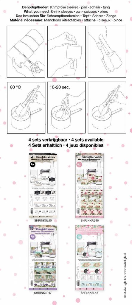 Studiolight Sleeves 260 x 70 mm, Handlettering nr.48