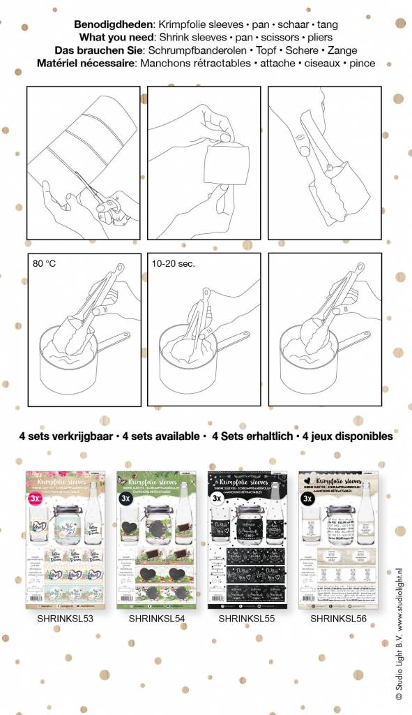 Studiolight Sleeves 380 x 110 mm, Handlettering
