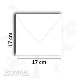 Hobbycentraal Envelope square white 17 * 17 cm 10 pieces