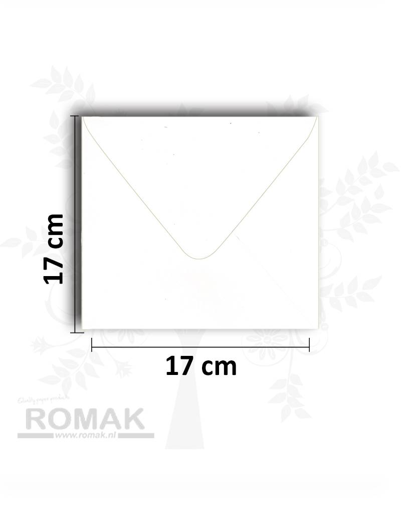 Hobbycentraal Enveloppe vierkant wit 17*17 cm 10 stuks