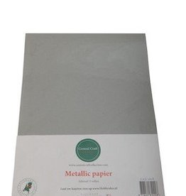Central Craft Collection Metallic papier Zilver grijs
