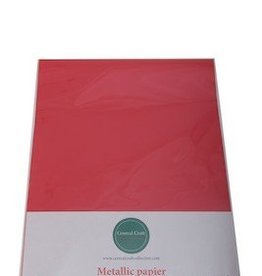 Central Craft Collection Metallic papier Rood