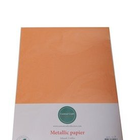 Central Craft Collection Metallic papier Oranje
