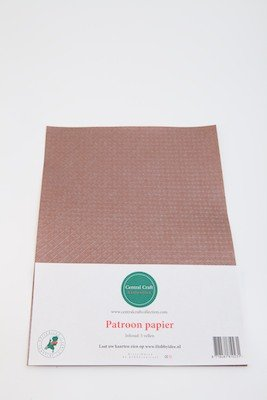Central Craft Collection Blokjes papier bruin