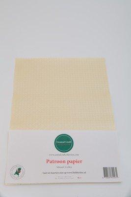 Central Craft Collection Blokjes papier creme