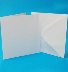 Craft UK Limited 25 7 X 7 WHITE CARDS & ENVELOPES