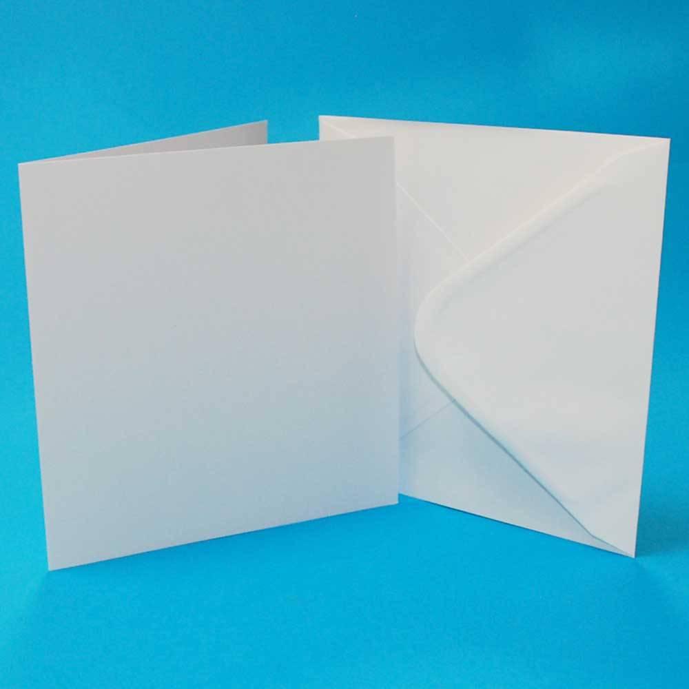Craft UK Limited 25 7 X 7 WHITE CARDS & ENVELOPES
