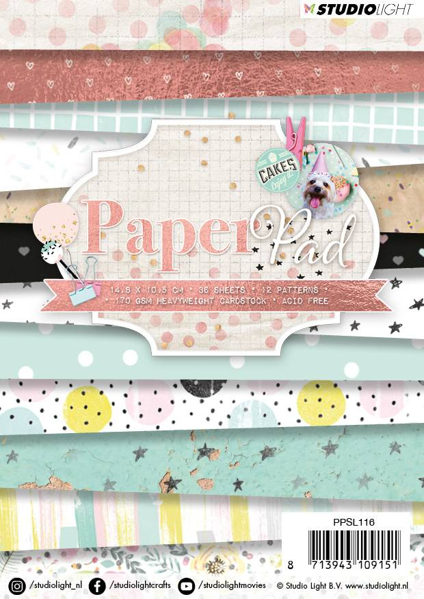 Studiolight Paper Pad A6, 36 vel, 12 patronen nr.116