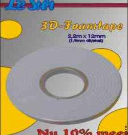 Le Suh Ruban mousse 3D Le Suh 2,2m x 12mm, 1,0 mm d'épaisseur