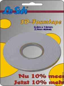 Le Suh Le Suh 3D Foam Tape 2,2m x 12mm 1,0 mm thick