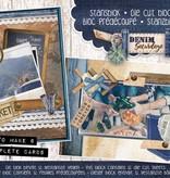 Studiolight Stansblok A5 Content 12 Sheets Die Cut, Denim Saturdays nr.19