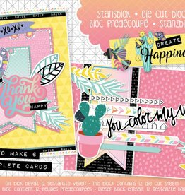 Studiolight Stansblok A5 Content 12 Sheets Die Cut, Create Happiness nr. 20