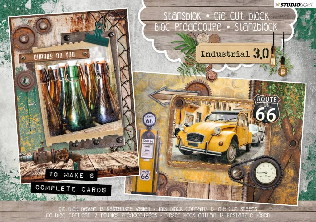 Studiolight Stansblok A5 Content 12 Sheets Die Cut, Industrial 3.0 nr. 21