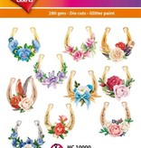 Hearty Crafts Easy 3D-Toppers Horseshoes / Flowers