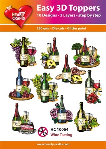 Hearty Crafts Easy 3D-Toppers Wine Tasting