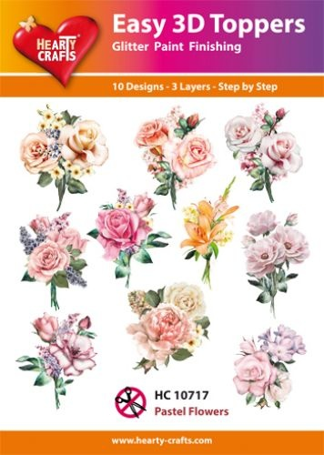Hearty Crafts Easy 3D-Toppers Pastel Flowers