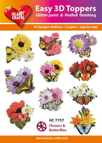 Hearty Crafts Easy 3D-Toppers Flowers & Butterflies