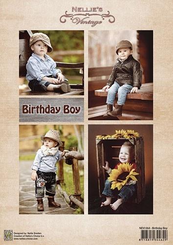 "Nellie's Choice NEVI064 Nellie's Vintage sheets A4 ""Birthday Boy"""