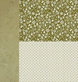 "Nellie's Choice A4 Background sheet NEVA040 Christmas green ""snowflakes"""