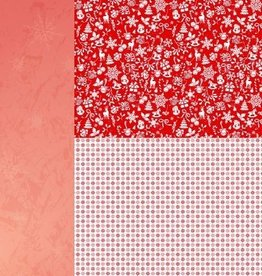 """Nellie's Choice A4 Background sheet NEVA035 Christmas red """"snowflakes"""""""