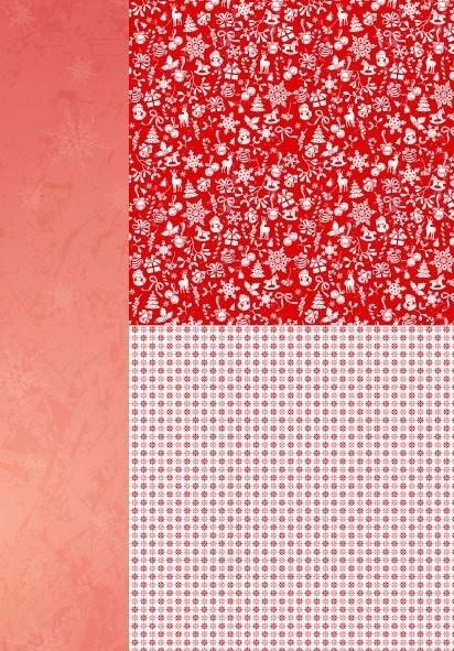 """Nellie's Choice Feuille de fond A4 NEVA035 """"Flocons de neige"""" rouge de Noël"""