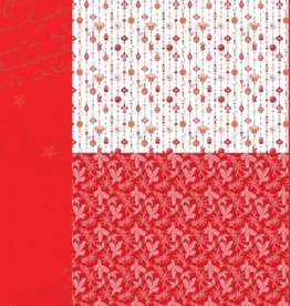 """Nellie's Choice A4 Background sheet NEVA034 Christmas red """"ornaments"""""""