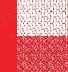 """Nellie's Choice A4 Hintergrundbogen NEVA034 Weihnachtsrot """"Ornamente"""""""