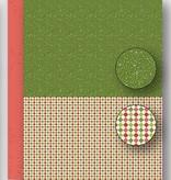 "Nellie's Choice NEVA070 Achtergrond vel A4 Christmas green ""dots"""