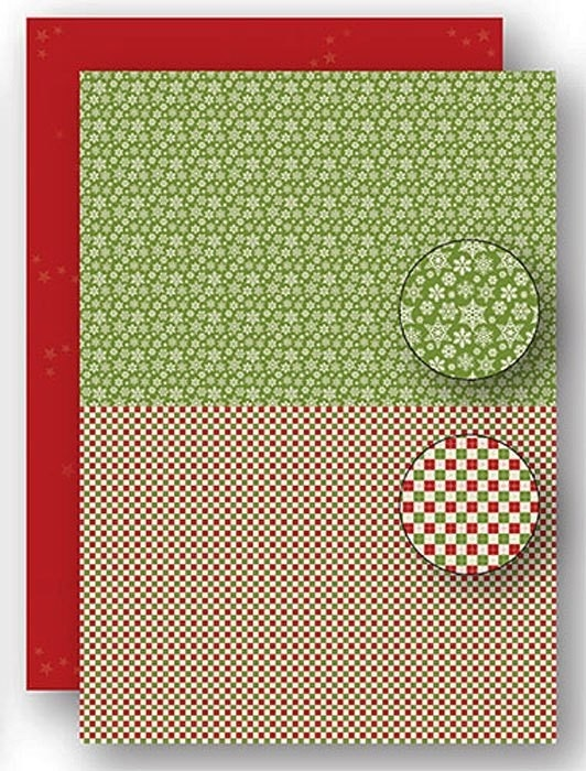 "Nellie's Choice NEVA069 Achtergrond vel A4 Christmas green ""snowflakes"""