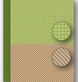 "Nellie's Choice NEVA067 Achtergrond vel A4 Christmas green ""lines"""